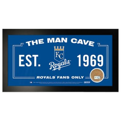MLB Kansas City Royals Small Framed Man Cave Sign