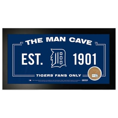 MLB Detroit Tigers Large Framed Man Cave Sign