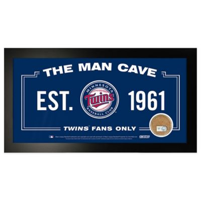 MLB Minnesota Twins Small Framed Man Cave Sign