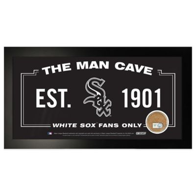 MLB Chicago White Sox Large Framed Man Cave Sign