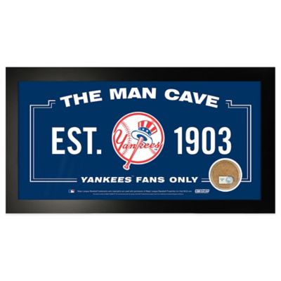 MLB New York Yankees Large Framed Man Cave Sign