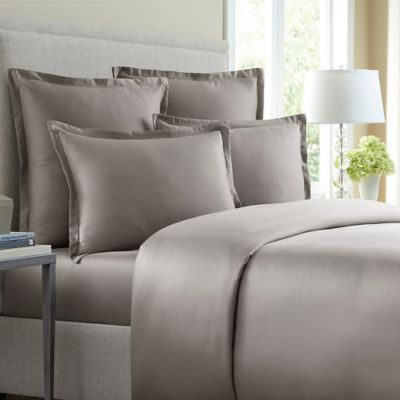 Wamsutta® 620-Thread-Count Solid Twin Duvet Cover in Charcoal