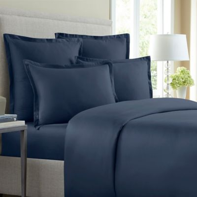 Wamsutta® 620-Thread-Count Solid King Duvet Cover in Blue Jean
