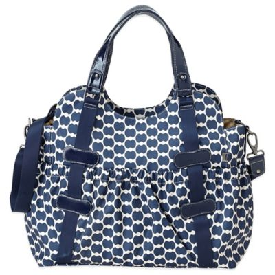 OiOi® Eclipse Dot Tote Diaper Bag in Navy