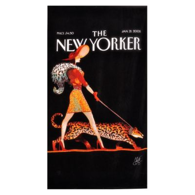 Condé Nast The New Yorker Leopard Lady Beach Towel
