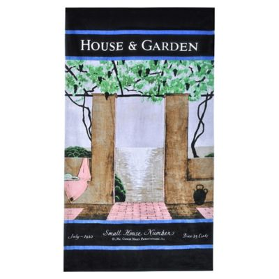 Condé Nast House and Garden Patio Scene Beach Towel
