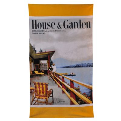 Condé Nast House and Garden Lake House Beach Towel