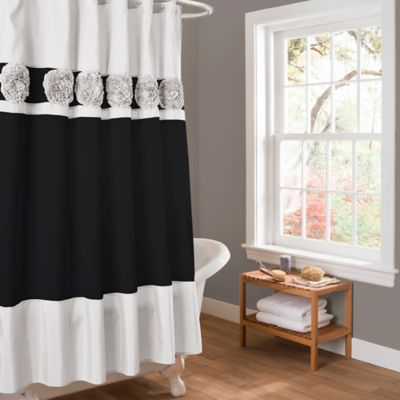 Seascape Shower Curtain in Black/White