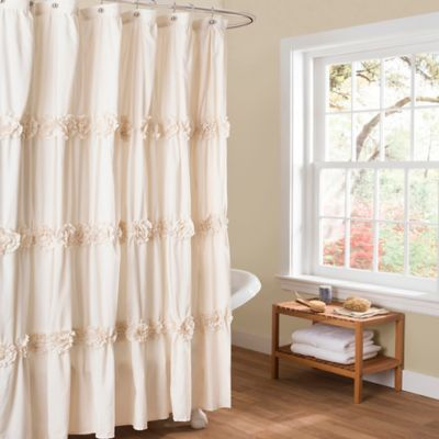 Darla Shower Curtain in White