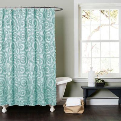 Stella Shower Curtain in Aqua