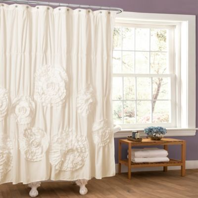 Serena Shower Curtain in White