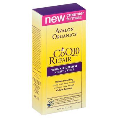 Avalon Organics® 1.75 oz. CoQ10 Repair Wrinkle Defense Night Creme