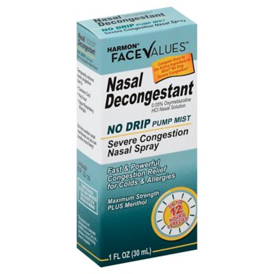 Harmon® Face Values™ Nasal Decongestant No Drip Pump Mist Severe Congestion Nasal Spray