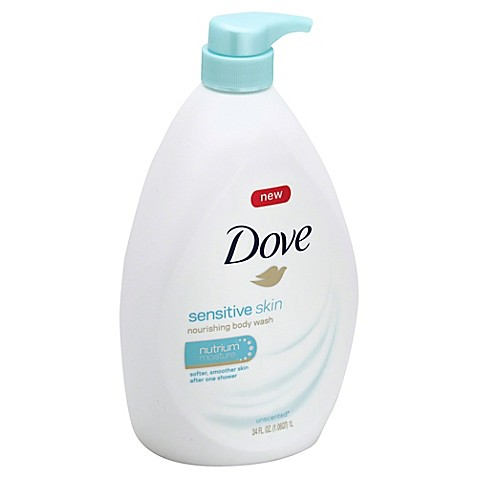 Dove 174 34 Oz Sensitive Skin Body Wash With Nutrium