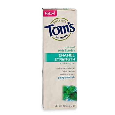 Tom's® of Maine 4 oz. Enamel Strength Natural Toothpaste in Peppermint