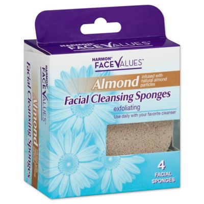 Harmon® Face Values™ 4-Count Almond Facial Cleansing Sponge