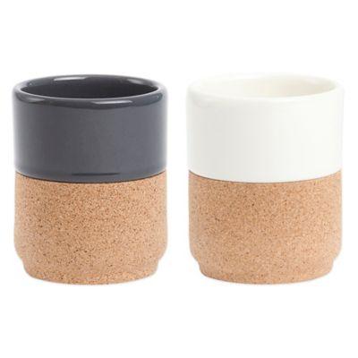 Amorim Cork Ceramic Tea Cup in Tan/Grey