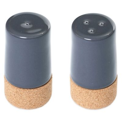 Amorim Cork Ceramic Salt & Pepper Shakers in White (Set of 2)