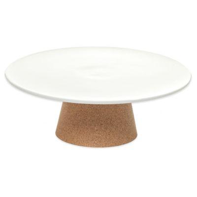 Amorim Cork Rendezvous Medium Ceramic Cake Stand in White