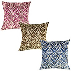 Ikat Embroidered Square Throw Pillow Bed Bath Amp Beyond