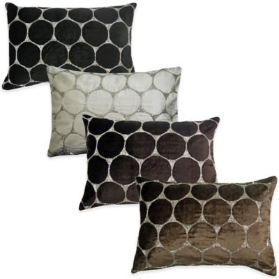Bead Cutout Breakfast Throw Pillow in Black