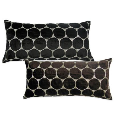 Bead Cutout Boudoir Throw Pillow in Chocolate