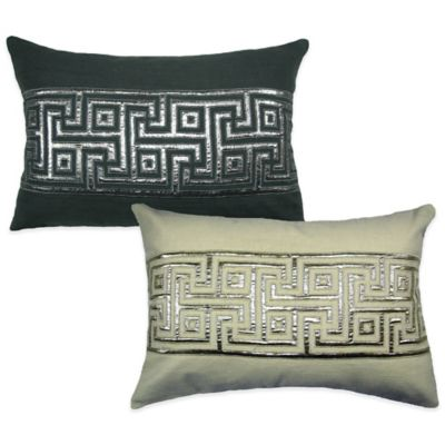 Lurex Key Oblong Throw Pillow Throw Pillows