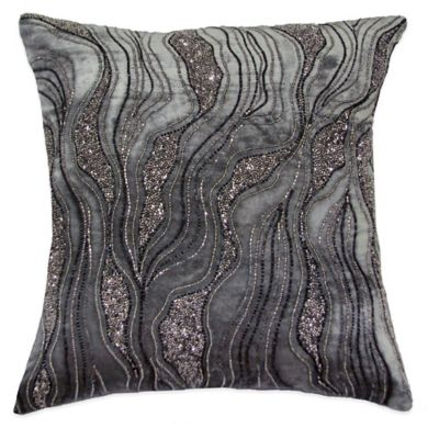 Delta Beaded Square Throw Pillow Home Decor