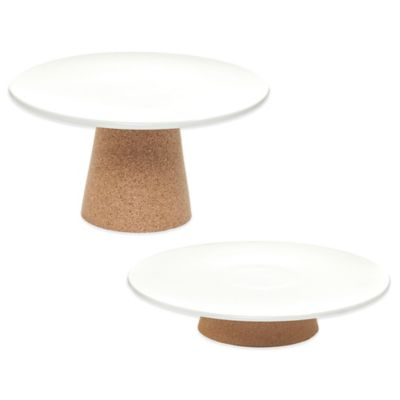 Amorim Cork Rendezvous Small Ceramic Cake Stand in Tan