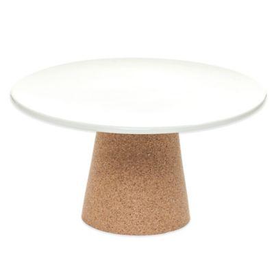 Amorim Cork Rendezvous Small Ceramic Cake Stand in Tan
