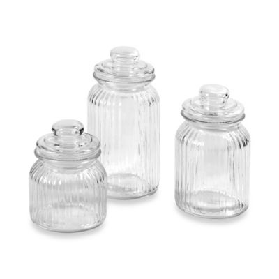 Home Basics® Glass Canisters (Set of 3)