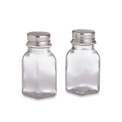 Home Basics® Glass Square Salt and Pepper Shakers