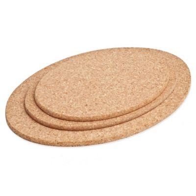 Amorim Cork 3-Piece Oval Trivet Set