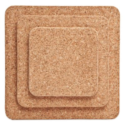 Amorim Cork 3-Pack Square Trivet Set