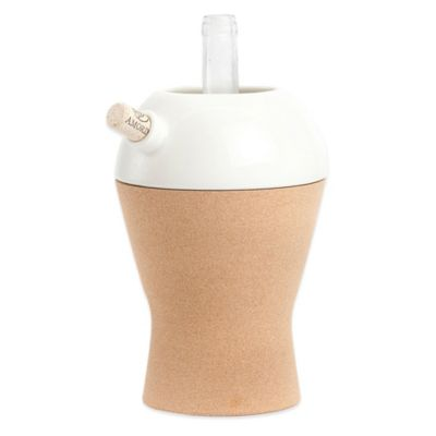 Amorim Cork Ceramic 1-Bottle Keep it Cool Wine Cooler in White