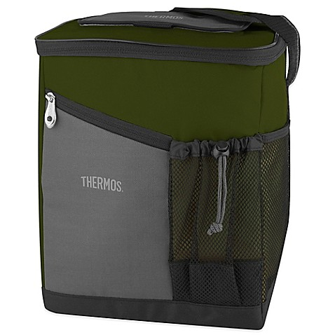Thermos 174 Insulated Soft Sided Cooler In Green Bed Bath