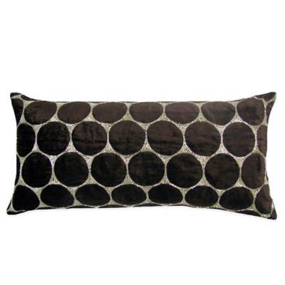 Bead Cutout Boudoir Throw Pillow in Chocolate