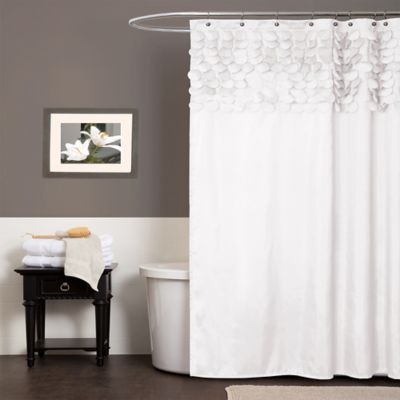 Gray Textured Shower Curtain