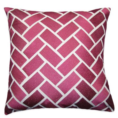 Pink Square Toss Pillow