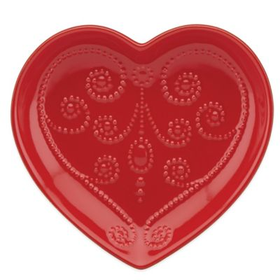 Lenox® French Perle Heart Dish in Cherry