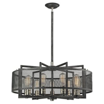ELK Lighting Slatington 9-Light Chandelier in Silvered Graphite/Brushed Nickel