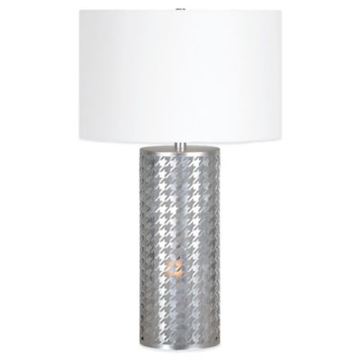 Ren-Wil Seaworth 2-Light Table Lamp with Linen Shade in Silver
