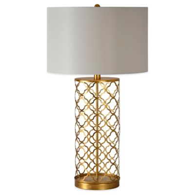 Ren-Wil Stardust Table Lamp in Gold with Linen Shade