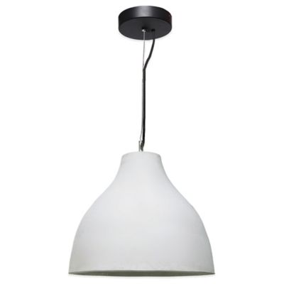 Ren-Wil Thames Semi-Flush Mount Ceiling Fixture in White
