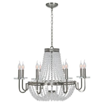 Ren-Wil Cesano 8-Light Chandelier in Brushed Nickel