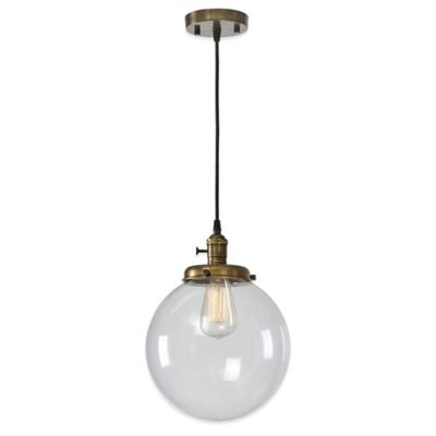 Ren-Wil Antonio Pendant in Clear with Glass Globe Shade
