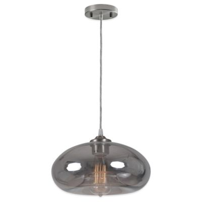 Ren-Wil Cambria Pendant with Smoky Black Mercury Glass Shade