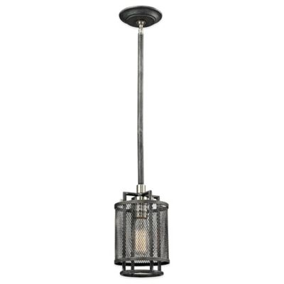 ELK Lighting Slatington 1-Light Pendant in Silvered Graphite/Brushed Nickel