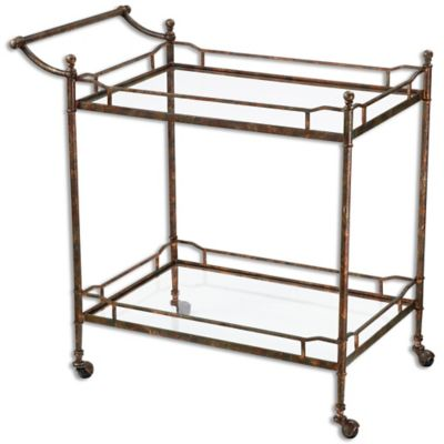 Uttermost Stasia Glass Tea Cart