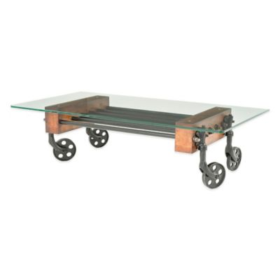 Beekman 1802 Masonic Glass Cart Coffee Table